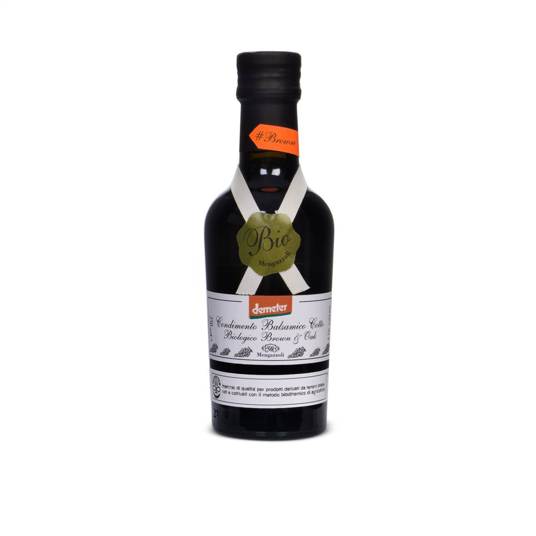 Condimento Balsamico Cotto Biologico - Brown & Oak - DEMETER