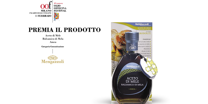 "Mengazzoli ""Apple Balsamic Vinegar"" awarded at Olio Officina Festival 2019"